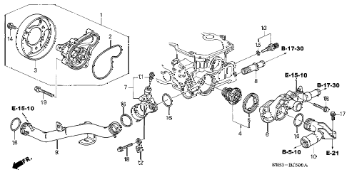 2004 honda civic transmission diagram