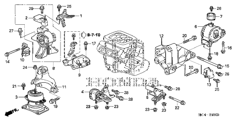 diagram together with honda civic engine parts diagram on 2007 honda