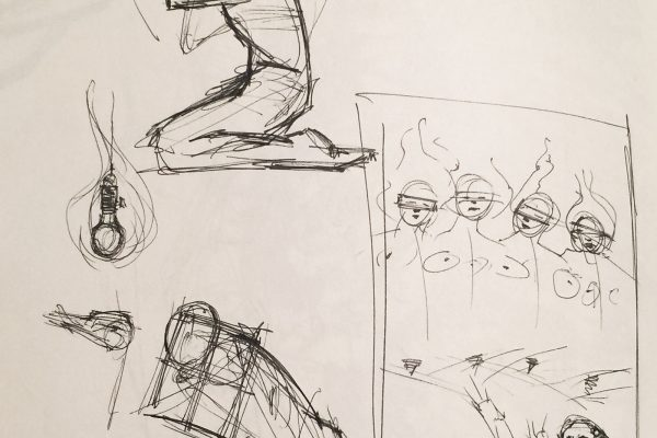 Sketches towards some poster.  Forget which but kinda recall an opera.