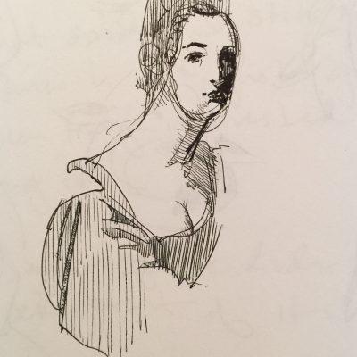 John Graham inspired Italian Lady study.