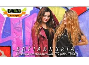 Sofia&Nuria kontzertu akustikoa @ El Corte Ingleseko terrazan