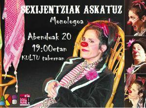 """""""Sexijentziak askatuz"""" bakarrizketa bihar Kultun"""