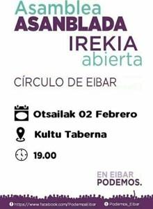 Asanblada irekia (Podemos) @ Kultu tabernan