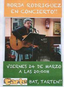 Kontzertua: Borja Rodriguez @ Tarte kafetegian (Legarre)