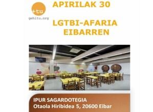 LGTBI afaria apirilaren 30ean