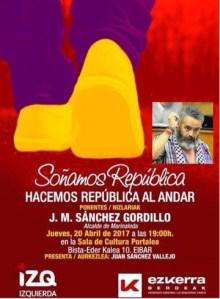 """Hitzaldia: """"Soñamos República"""" @ Portalea"""