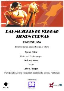 """""""Las  mujeres  de  verdad  tienen  curvas""""  pelikula,  Pagatxak  antolatutako  Zine-Foruman"""