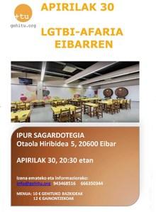 LGTBI Afaria @ Ipur sagardotegian (Otaola, 5)