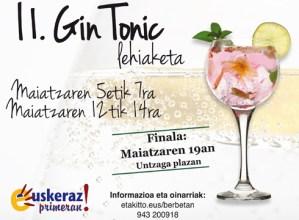 II.  Gin  Tonic  Lehiaketa  maiatzean
