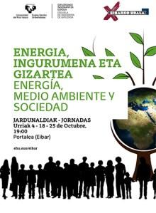"""Jardunaldiak: """"Energia, ingurumena eta gizartea"""" @ Portalean (areto nagusian)"""