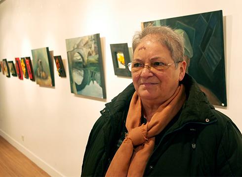 """Esther  Fernández  de  Maruri,  margolaria:  """"Margolaritzak  xarma  handia  dauka,  koadroak  eskaintzen  dizuna"""""""