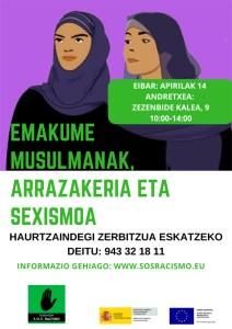 """Tailerra: """"Emakume musulmanak, arrazakeria eta sexismoaren aurka"""" @ Andretxean (Zezenbide 9-behea)"""
