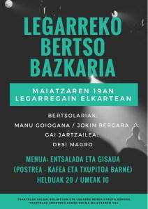 Bertso Bazkaria @ Legarregain elkartean