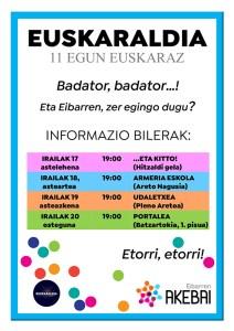Euskaraldia: informazio bilerak @ Udaletxean( (Plano Aretoa)