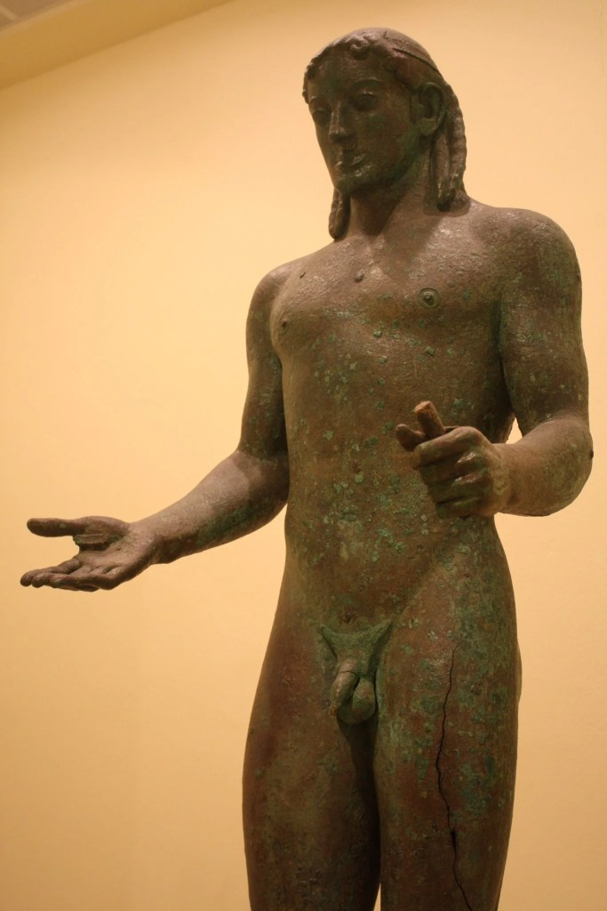 The Piraeus Apollo. Bronze, 5th century BCE.