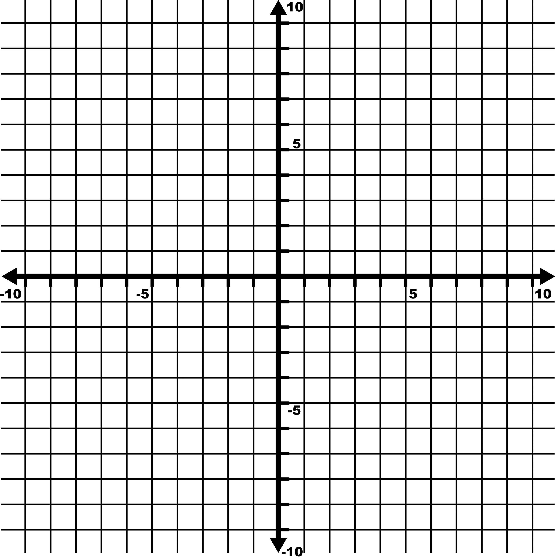 10 x 10 grid graph paper