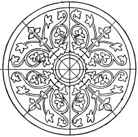 Medieval Circular Panel | ClipArt ETC