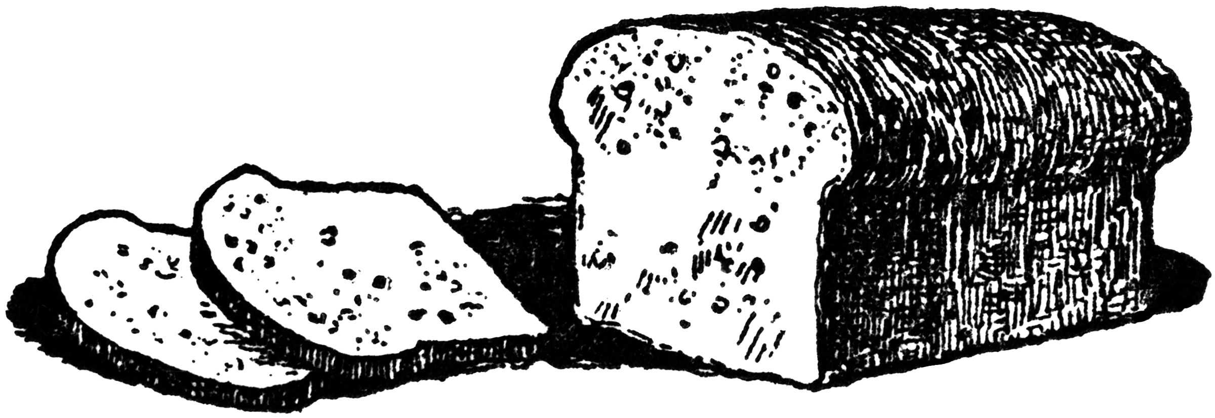 Loaf Clipart Black And White Loaf Of Bread Clipart Etc