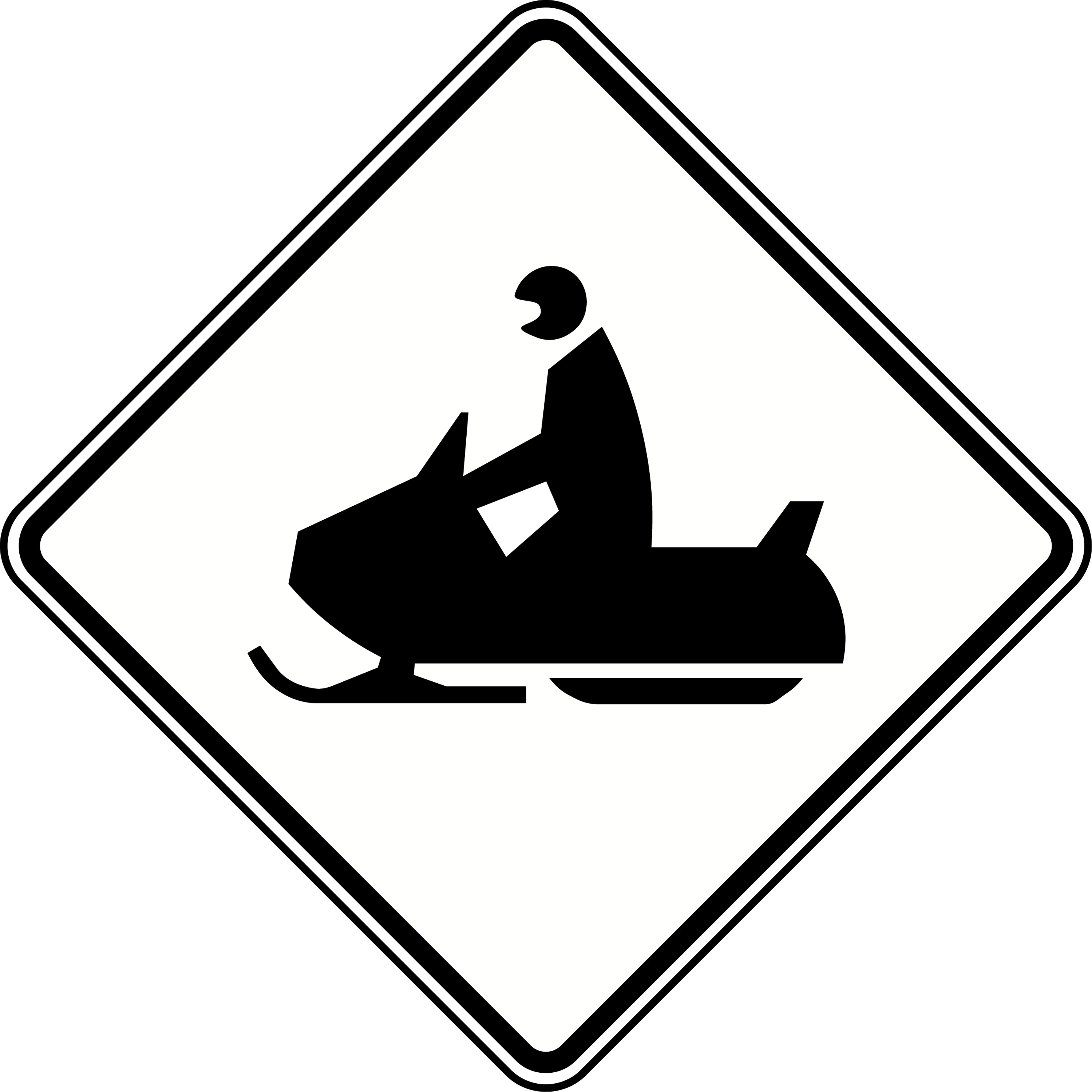 Road Crossing Clipart Black And White Snowmobile Crossing Black And White Clipart Etc
