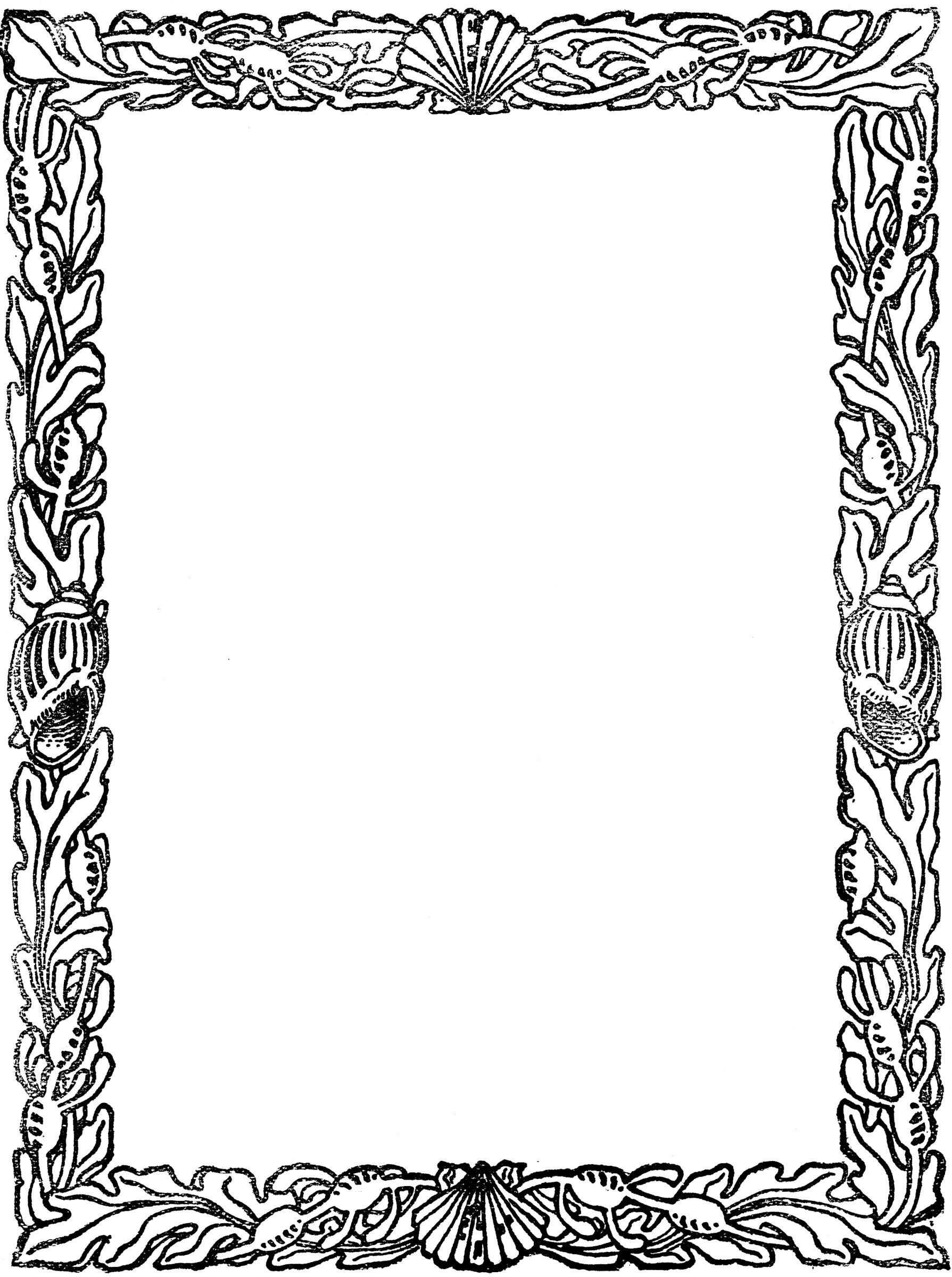 Cute Word Wallpaper Seashell Border Clipart Etc