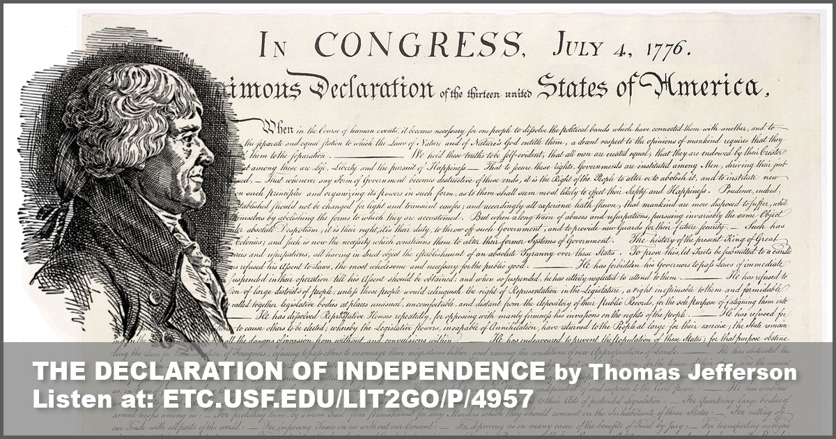The Declaration of Independence Historic American Documents