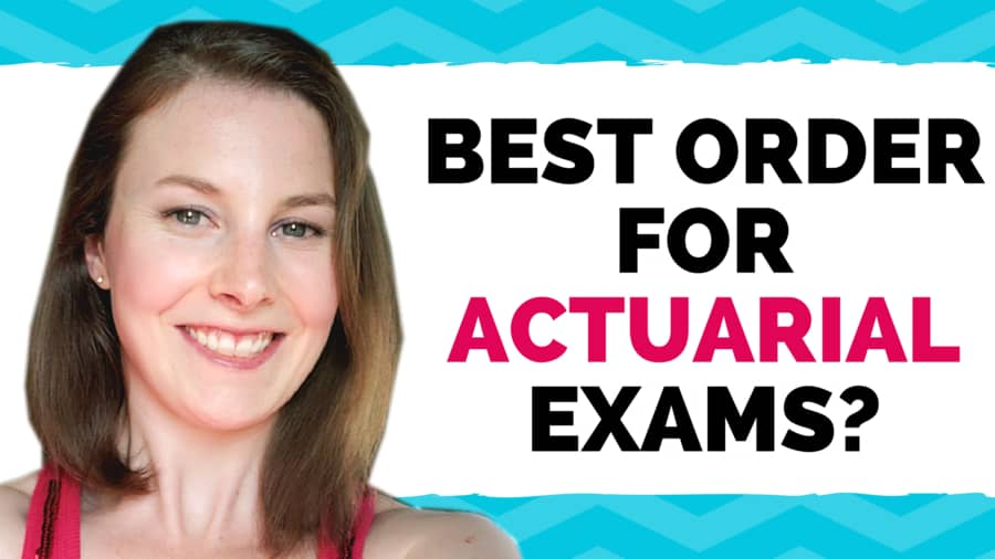 What is the best order to take the actuarial exams? Etched Actuarial