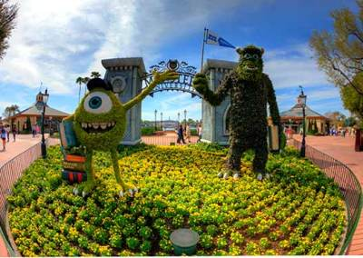 Mike ad Sully at Epcot