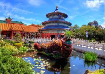 Dragon topiary in China