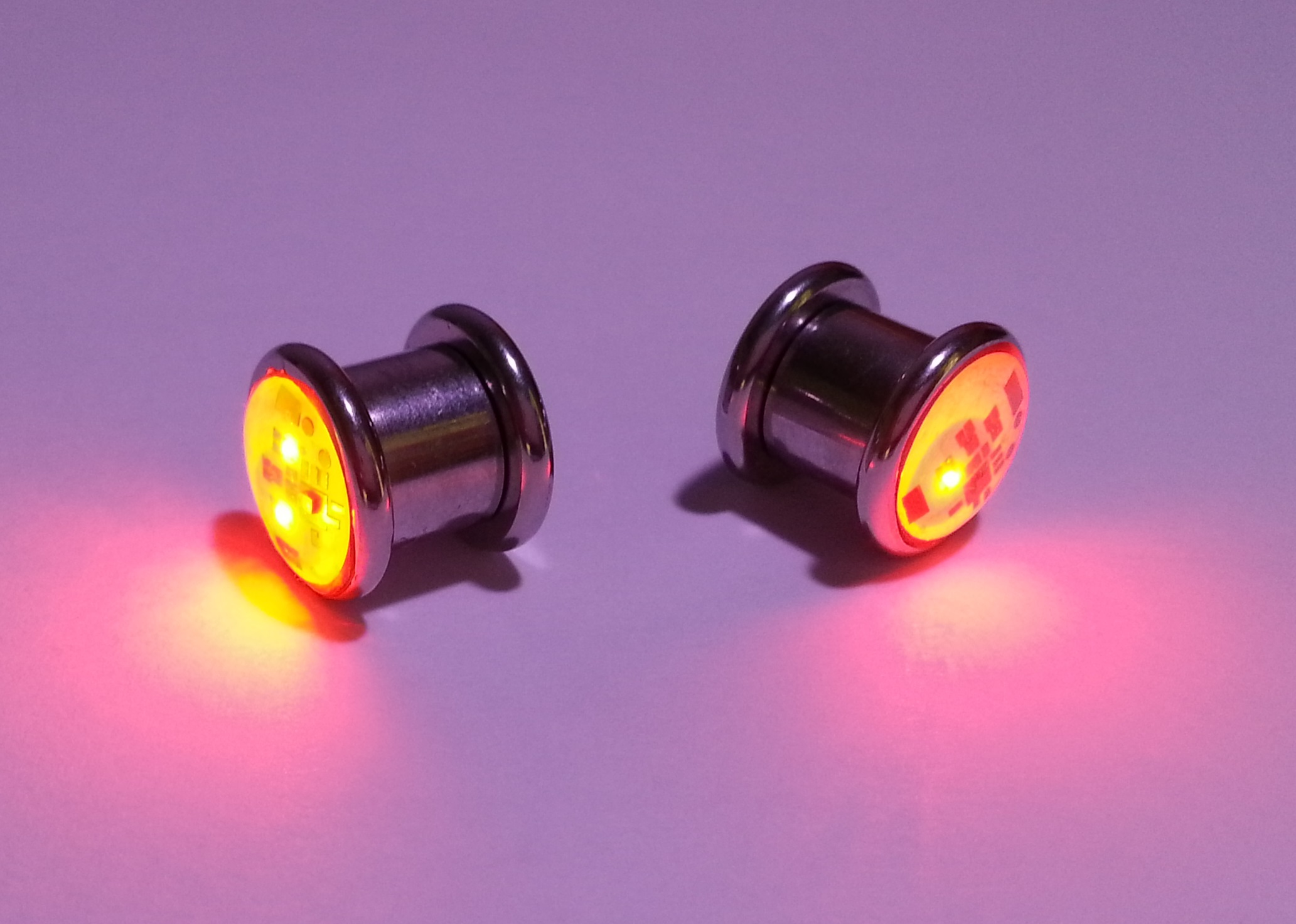 Cool Electrical Outlets Led Light Up Ear Gauge Plug Eternity Led