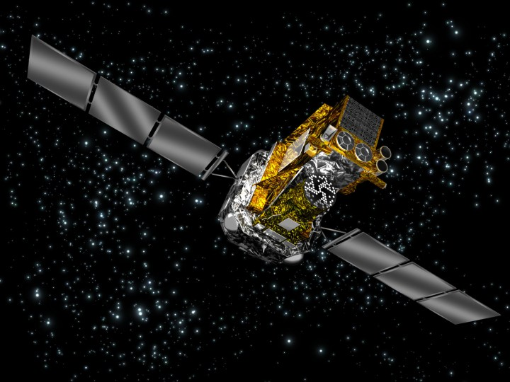Observatório orbital de raios-gama INTEGRAL da ESA. Crédito: ESA