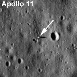 Imagem do local de pouso da Apollo 11
