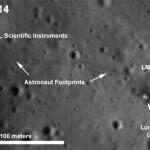A LRO fotografou o local de pouso da Apollo 14 e mostra o módulo lunar