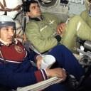 Tripulação da Soyuz T15: o comandante Kizim e o engenheiro de vôo Solovyov