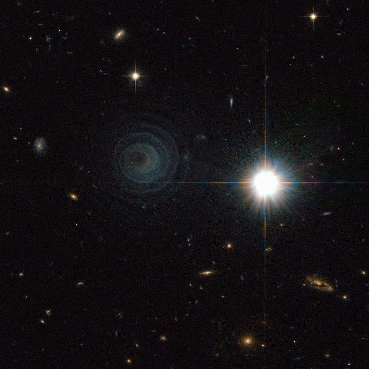 A notável espiral cósmica IRAS 23166 1655 capturada pelo Hubble Crédito: ESA/NASA & R. Sahai