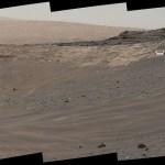 Curiosity ajusta seu caminho na escalada do Monte Sharp para investigar sítios geológicos interessantes em Marte