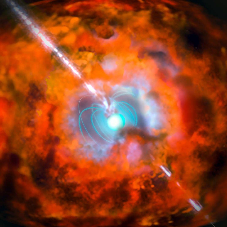 Resultado de imagem para explosão de um magnetar