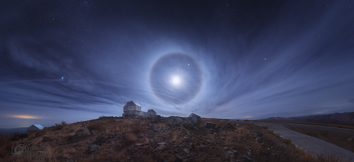 Halo lunar no deserto do Atacama porYuri Beletsky(TWAN)