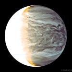 A noite em Vênus em infravermelho observada pela sonda orbital japonesa Akatsuki