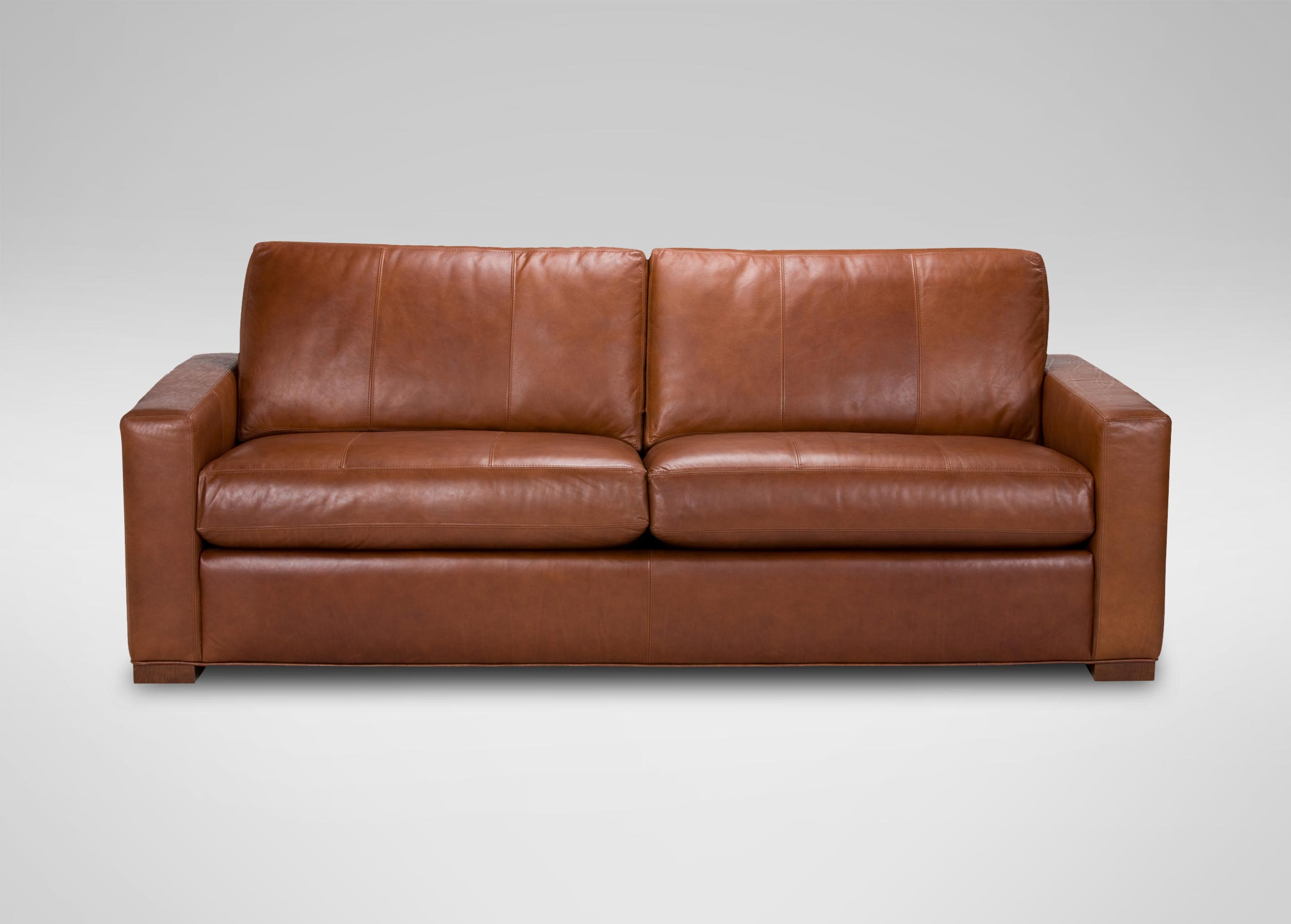 Leather Loveseat Hudson Leather Sofa Sofas And Loveseats Ethan Allen