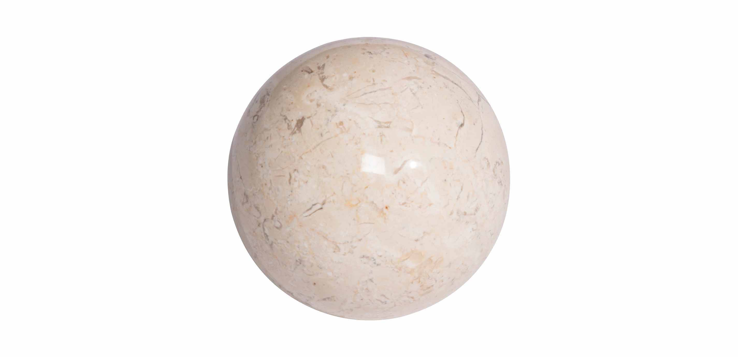 Lampe Arne Jacobsen White Stone Ball | Decorative Objects | Ethan Allen