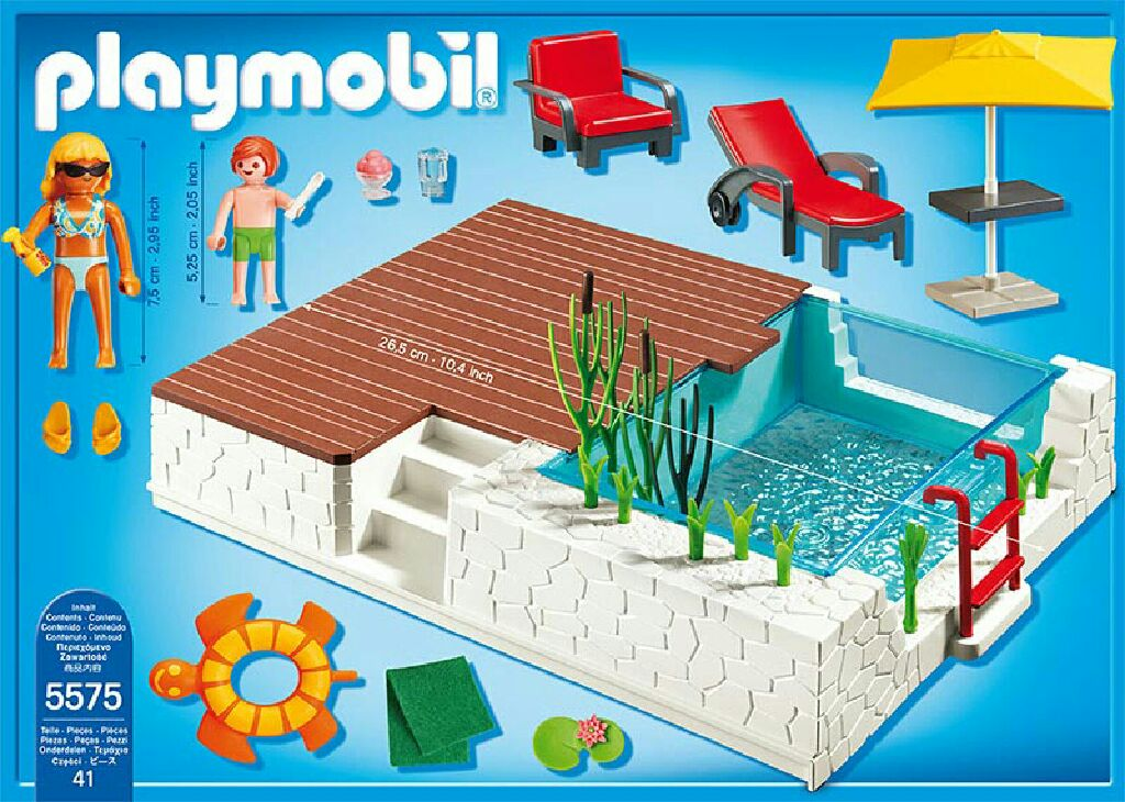 Playmobil City Life Küche Müller Zwembad Met Terras Playmobil - City Life (5575) - From