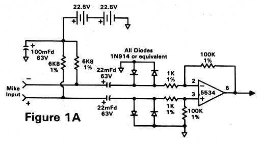 phantom power preamp schematic