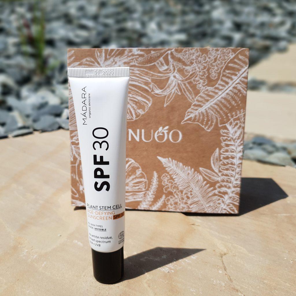 Aloha from Hawaï! [Nuoo Box – Juin 2018] MÁDARA – Crème solaire visage SPF30