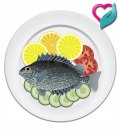 fish served on plate