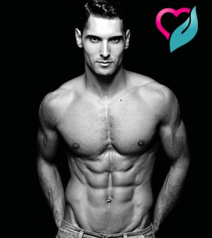 six pack abs model