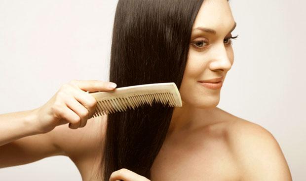 hair brushing woman