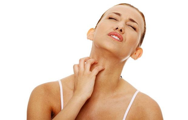 scrathing neck