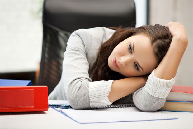 women tired in office