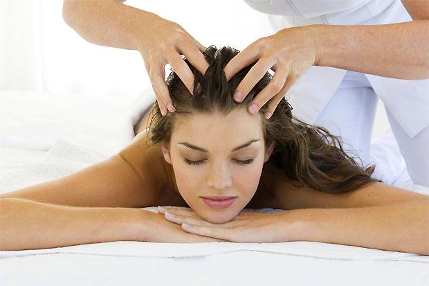 okra hair massage