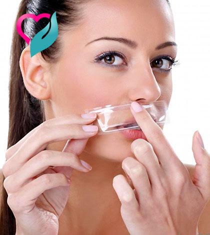 woman mustache remove